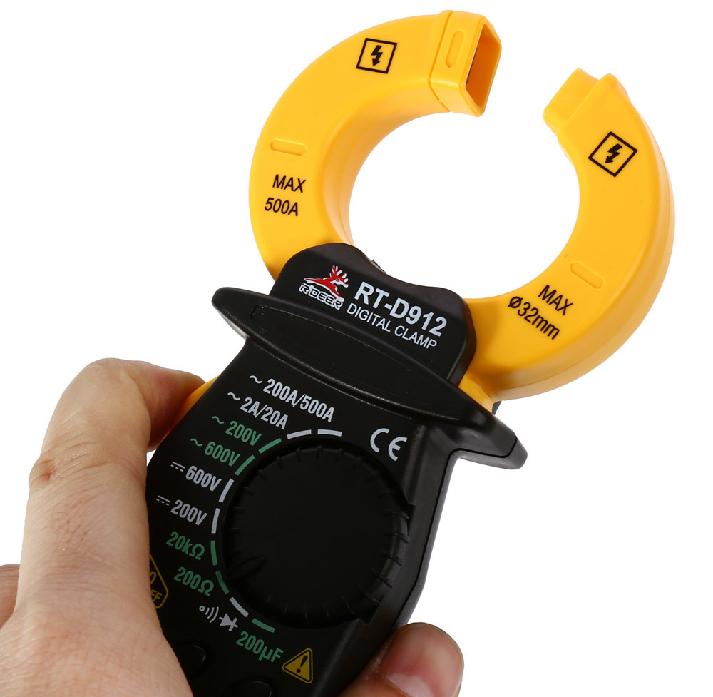 ROBUST DEER RT-D912 500A Digital Clamp Meter with Capacitance Measurement