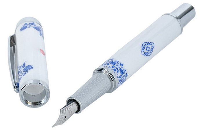 Blue and White Porcelain Style Fountain Pen Exquisite Stationery