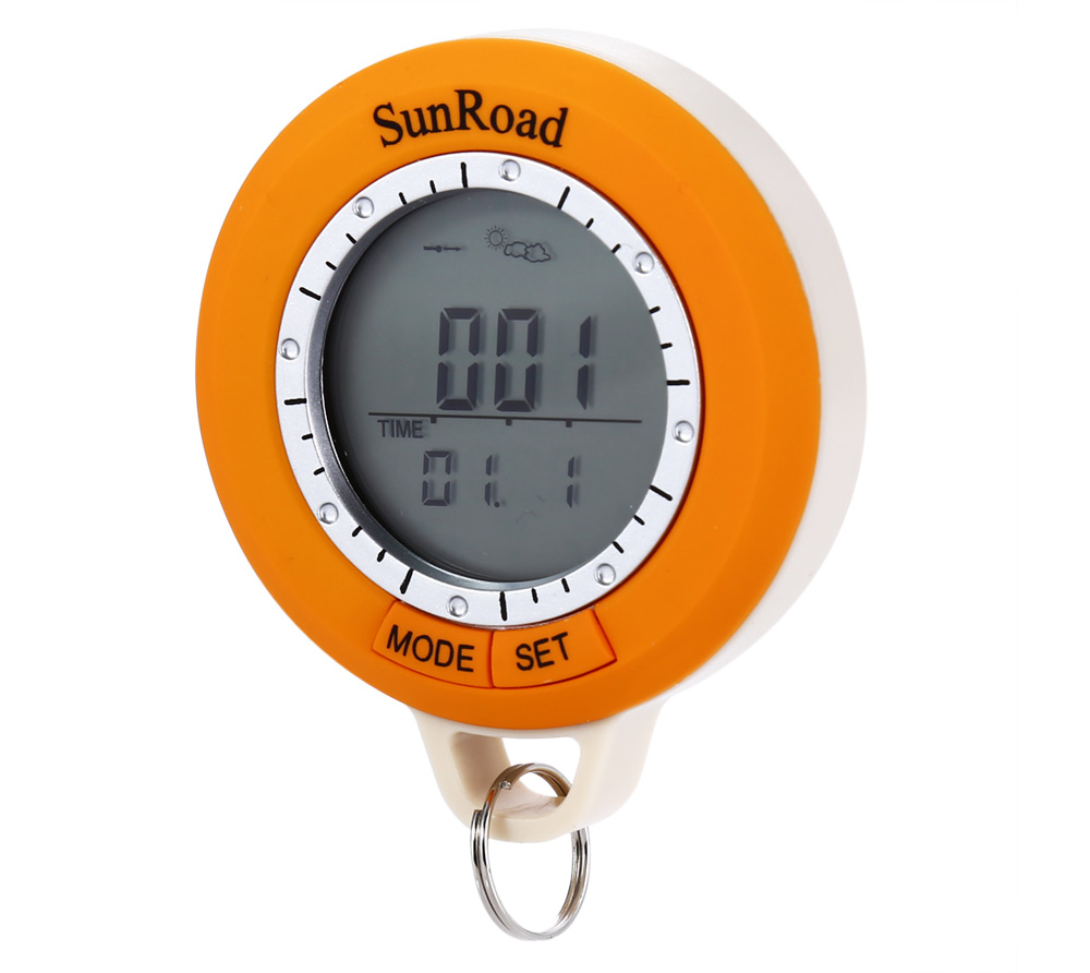 6 in 1 Sunroad SR108S LCD Digital Hiking Computer Altimeter Barometer Compass LED Torch