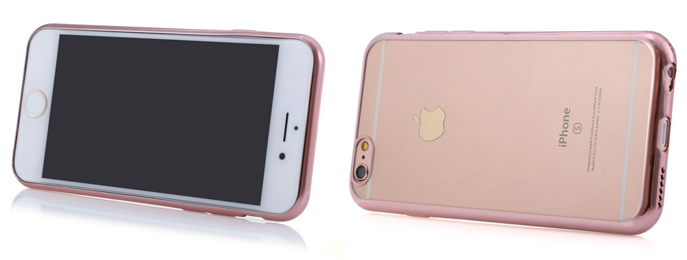Protective Back Cover Case for iPhone 6 / 6S Electroplated Frame TPU Material