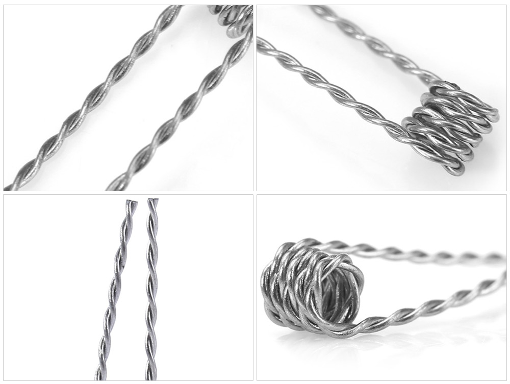 Original Wotofo Twisted Resistance Wire with 25pcs Coil Atomizer Heating Wire for E Cigarette