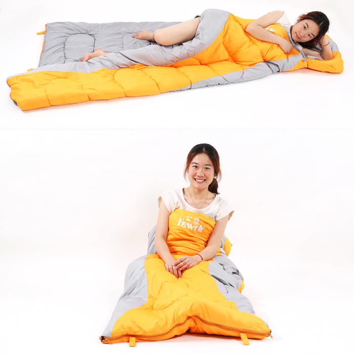 Hewolf 220 x 75cm Envelope Form Autumn Sleeping Bag with Cotton Lining