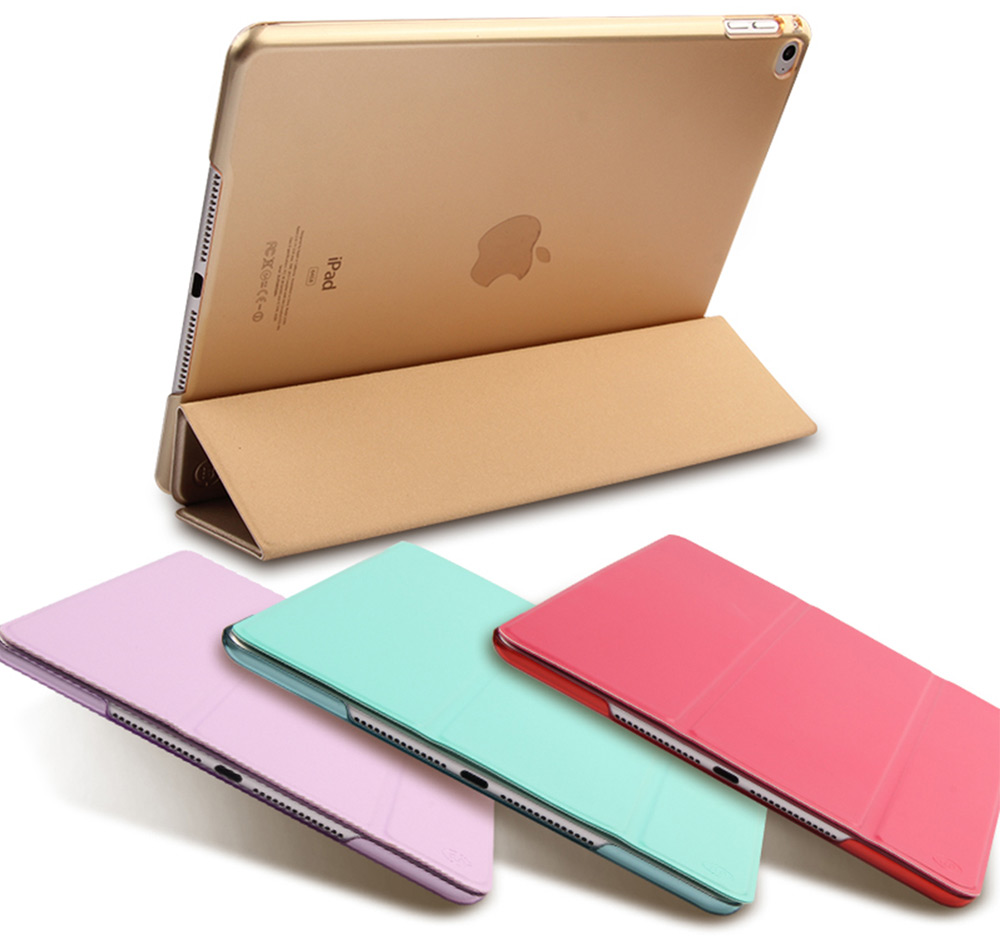 MOSHUO Three Folds Flip PU Leather Smart Cover Protective Case for iPad Air 2 with Stand Function