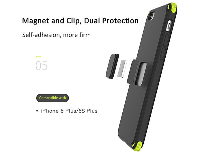 ROCK MOC Protective Back Case for iPhone 6 / 6S Magnetic Design Anti-skid Anti-Shock