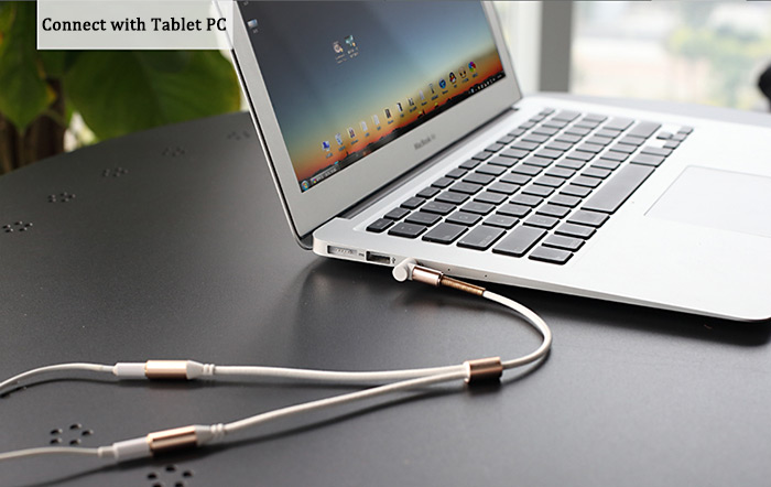 ROCK 3.5mm 1 to 2 Audio Cable Splitter for Music Sharing Portable Design Aluminum Alloy Interface