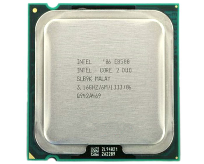 Intel Core 2 Duo E8500 CPU Dual Core 3.16GHz 775 Pin Processor
