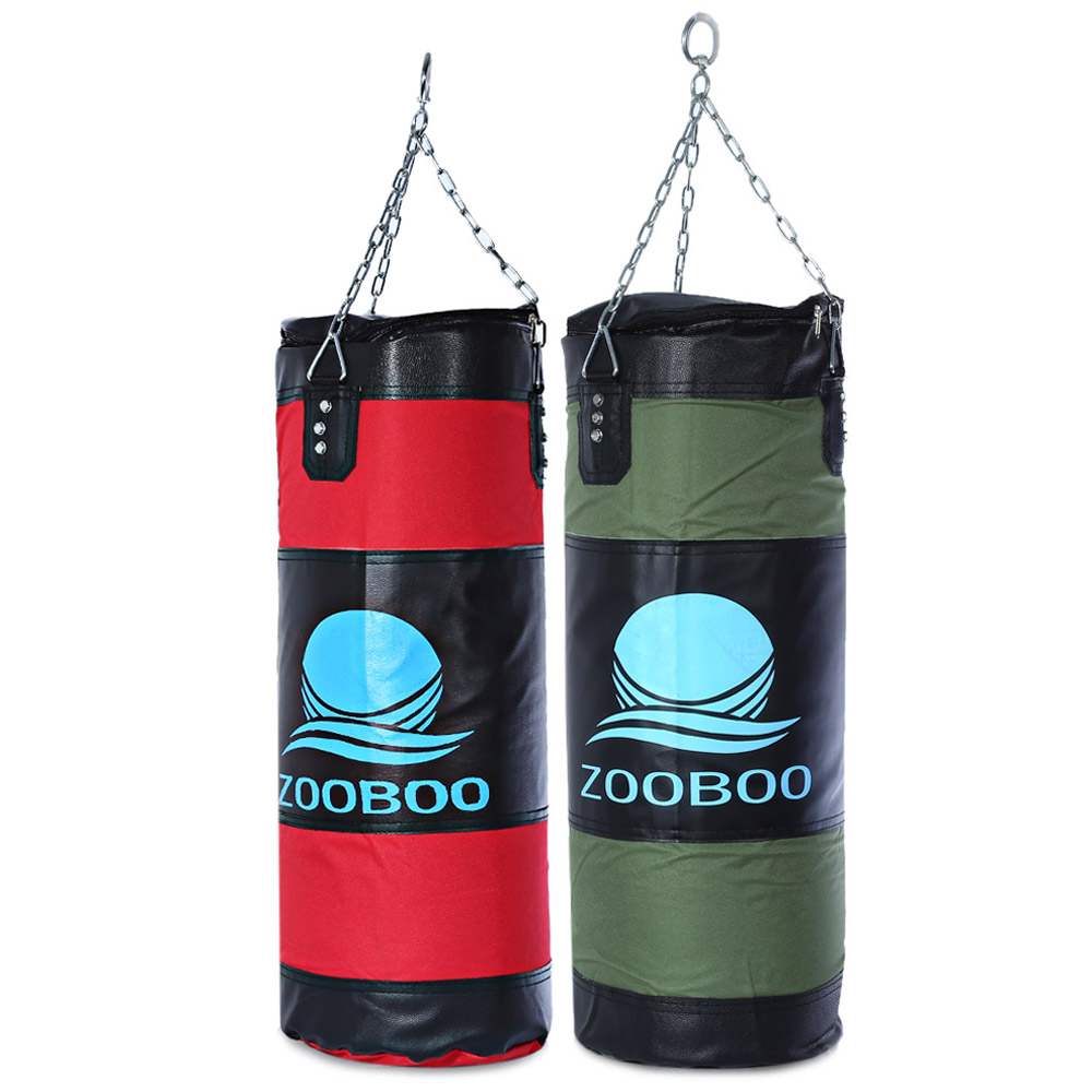 Zooboo 70cm Boxing Striking Drop Hollow Sand Bag with Chain Martial Art