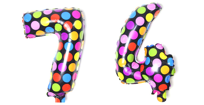 Pantong 16 inch Foil Cute Number Balloon Festival Home Party Decoration