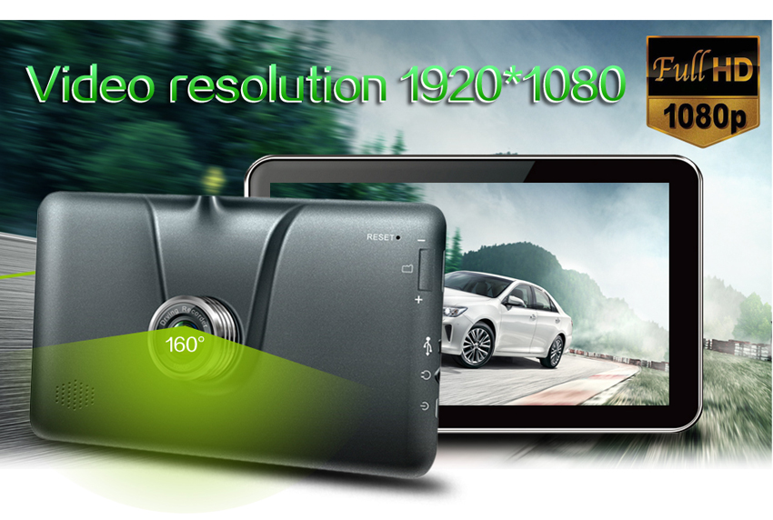 TiaiwaiT A70-16GB-AVIN 1080P 140 Degree DVR Camera Android 4.4.2 7.0 inch Car GPS Navigation Navigator Media Player Support Bluetooth WiFi Function with Free Map