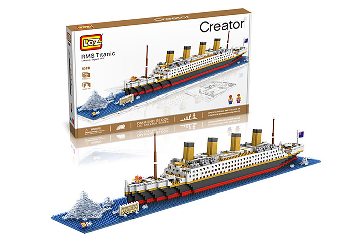 LOZ 1680Pcs 9389 RMS Titanic Building Assembling Block Educational Toy - World Great Architecture Series
