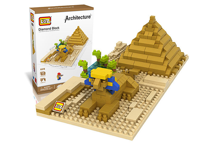 LOZ 9376 Sphinx Building Assembling Block 330Pcs Educational Toy - World Great Architecture Series