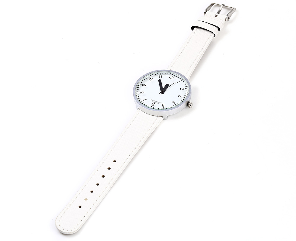 Simple Colorful Quartz Leather Band Female Watch