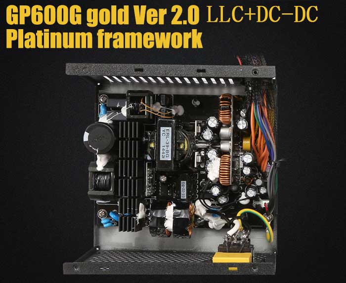 Segotep GP600G Power Supply 80 Plus Gold Straight-out Version 500W for Computer