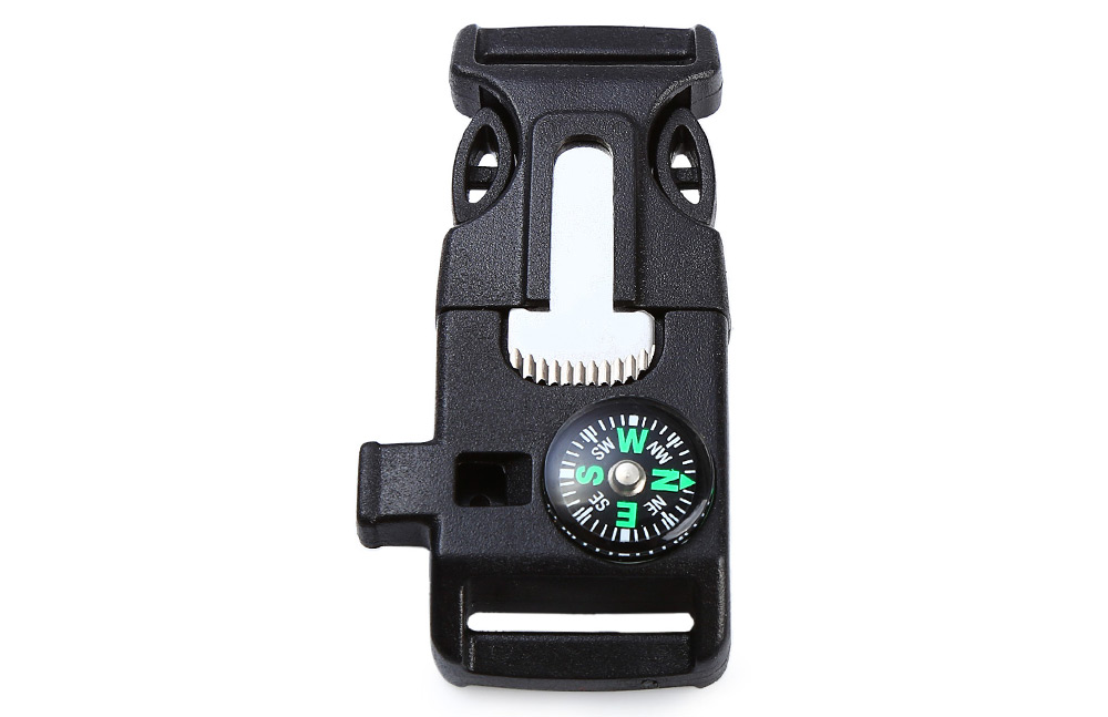 Multifunctional Fire Starter with Whistle Compass Scraper