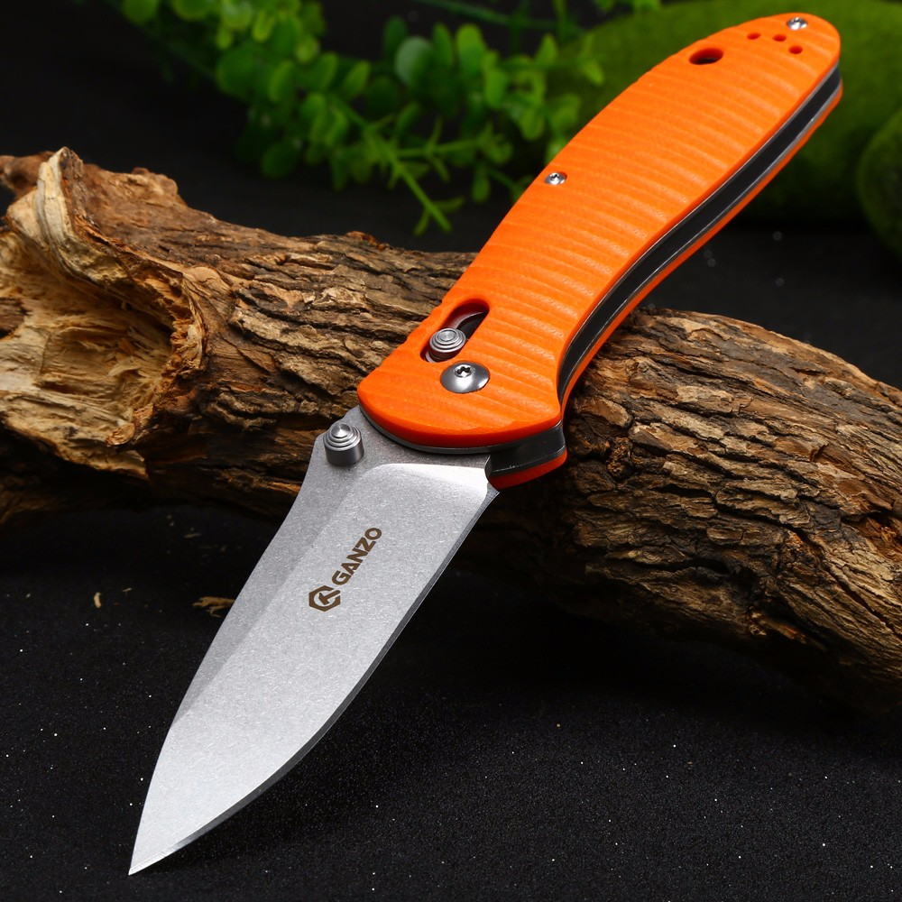 Ganzo G7392P-OR Pocket Knife with Axis Lock