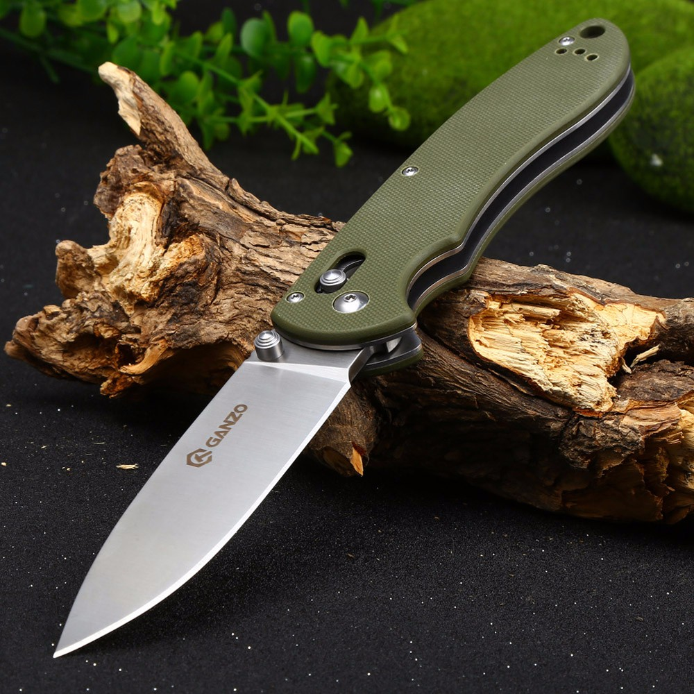 Ganzo G740-GR Pocket Knife with Axis Lock