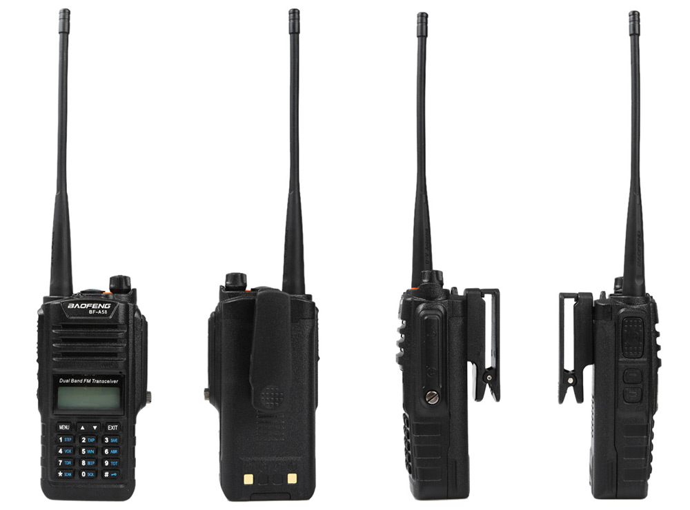 BAOFENG BF-A58 VHF / UHF Walkie Talkie 128 Channel with LED Light