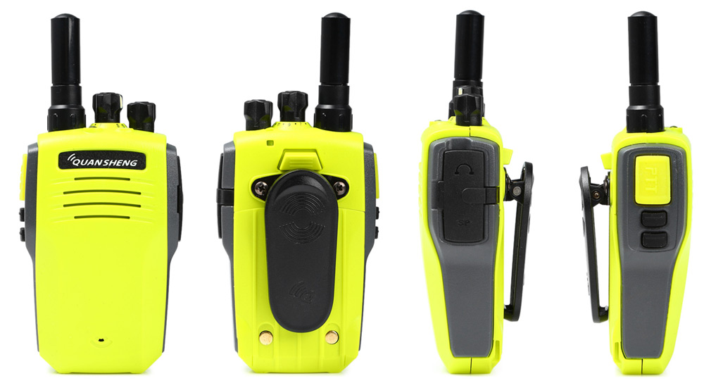 QUANSHENG TG-A1 UHF Walkie Talkie 16 Channel with LED Light