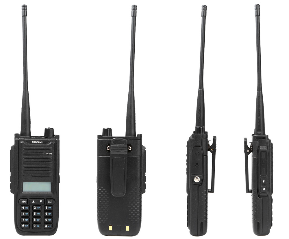 BAOFENG UV-5RZ VHF / UHF Walkie Talkie 128 Channel with LED Light
