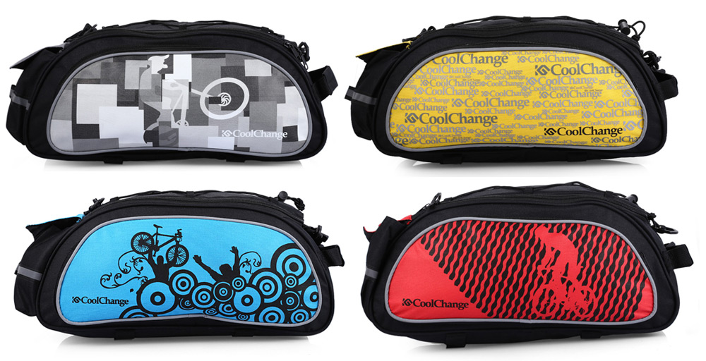 CoolChange 10L Multi-function Bicycle Rear Bag for Outdoor Cycling