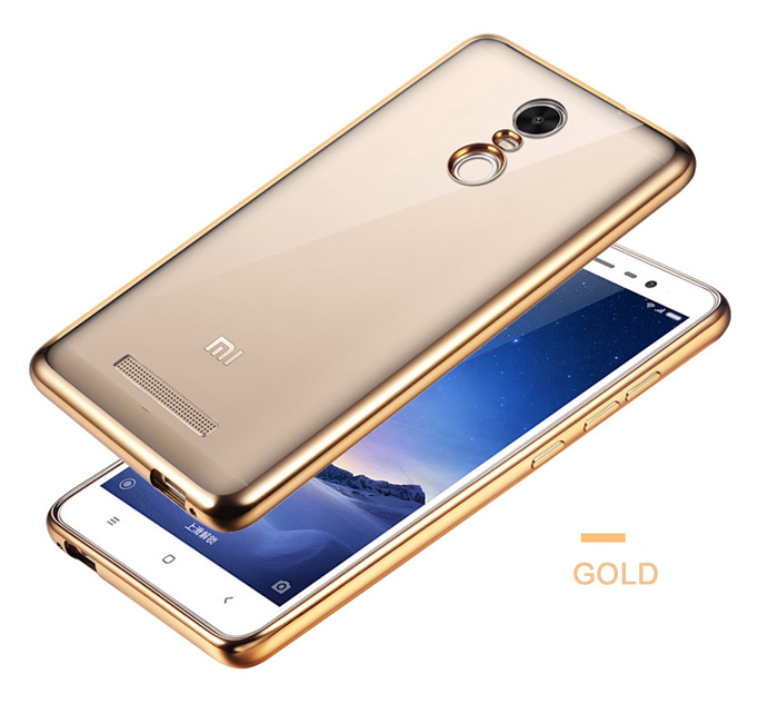 ASLING TPU Soft Protective Case for Xiaomi Redmi NOTE 3 / 3 Pro Ultrathin Transparent Style Protector with Electroplated Edge