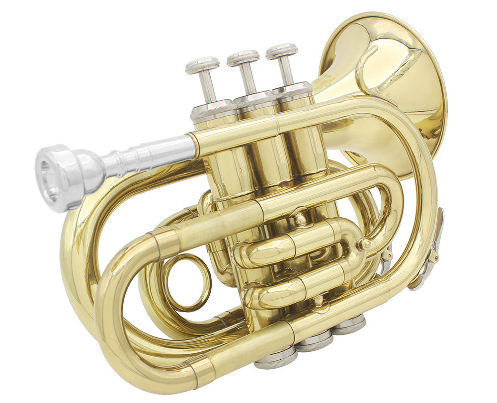 LADE Mini Portable Trumpet in Bb Musical Instrument for Amateur / Specialist