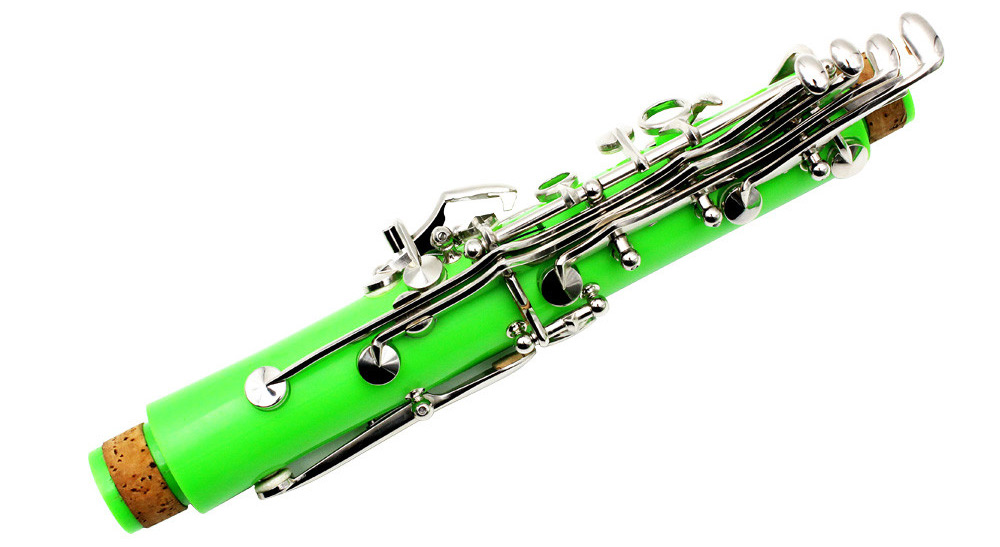 LADE Exquisite Nickel Clarinet in Bb 17 Key Musical Instrument for Amateur / Specialist