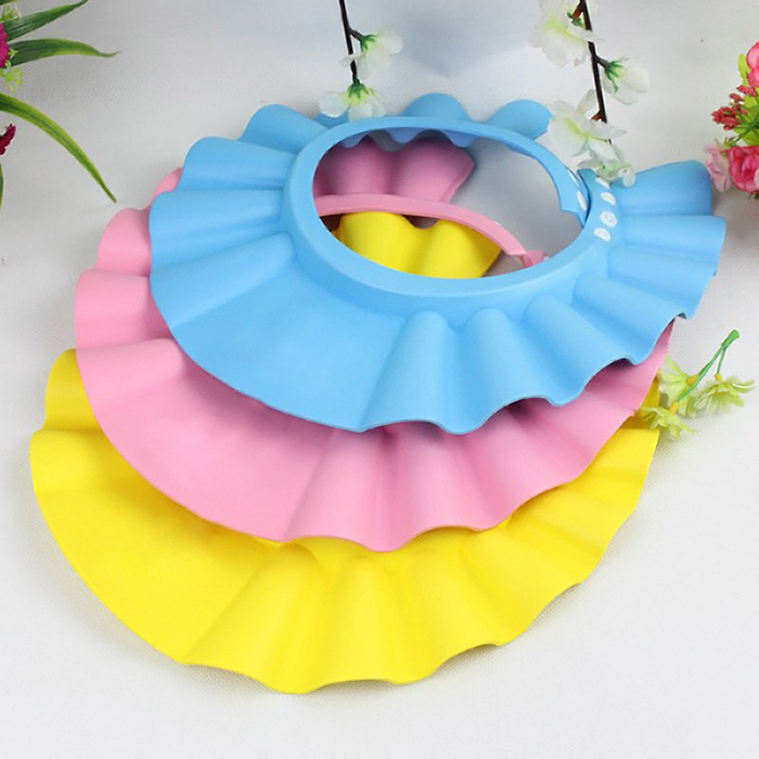 Baby Care Safe Shampoo Cap Shower Bath Protection Soft Resizable Hats