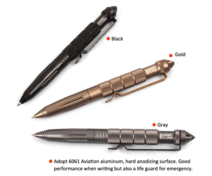 LAIX B2 Aviation Aluminum Material Tactical Pen Self Defense Cooyoo Tool for Emergency Life-saving