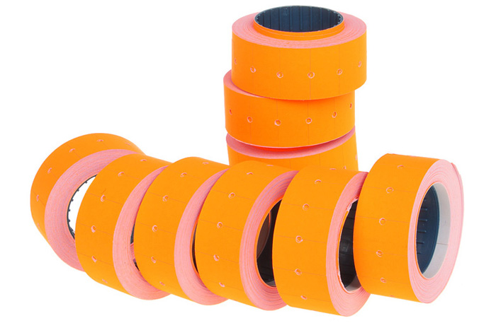 10 Rolls Paper Price Marking Labels for One-line Tagging Guns