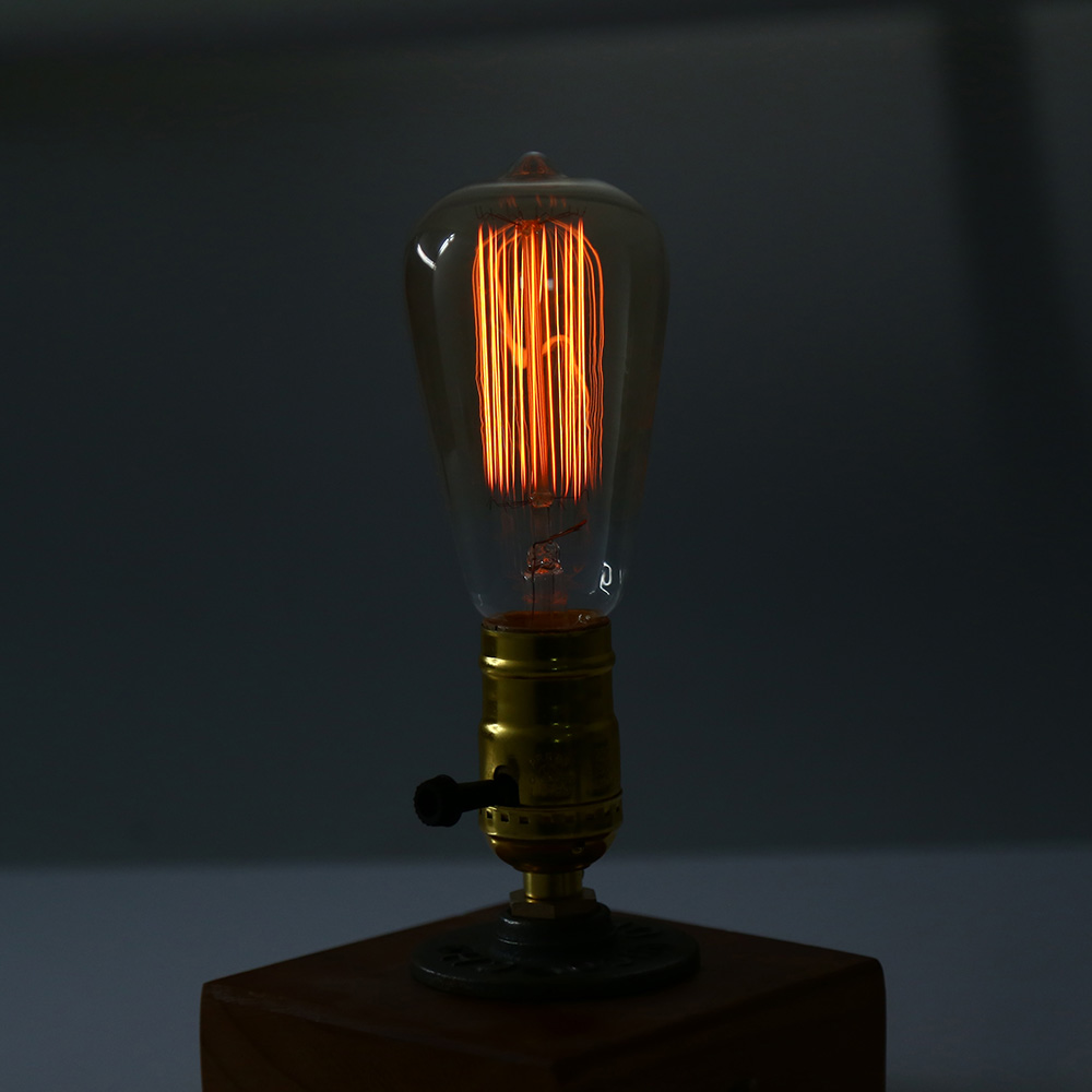 e27 vintage edison bulb table lamp online shopping. Black Bedroom Furniture Sets. Home Design Ideas
