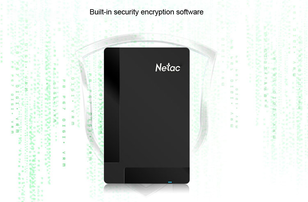 Netac K218 USB 3.0 External Disk Drive HDD with Independent Hardware Encryption Function
