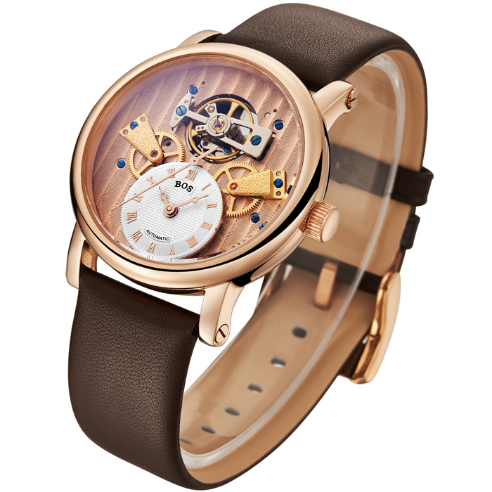 BOS 9006G Working Sub-dial Tourbillon Automatic Mechanical Watch for Men