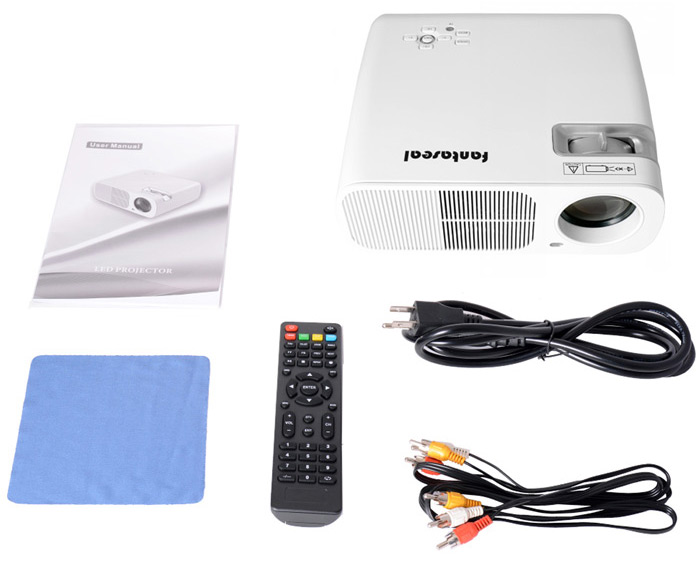 Fantaseal LP-S2 LCD Projector 1800LM 800 x 480 Pixels Home Theater