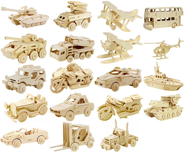 Robotime Helicopter 3D Wooden Puzzle Environmental Assemble Toy Educational Game