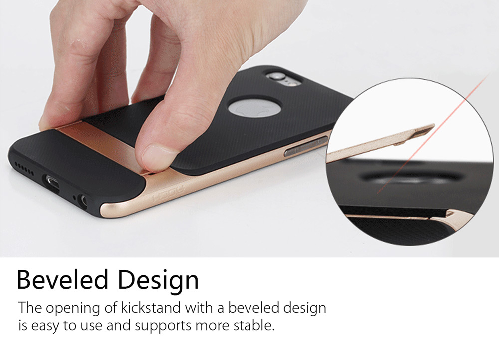 ROCK Royce Series Protective Back Case for iPhone 6 Plus / 6S Plus with Kickstand Anti-scratch