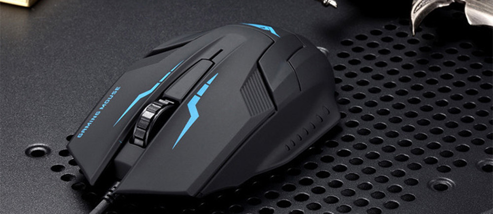 RAJFOO I5 Wired USB Gaming Mouse with LED Backlit