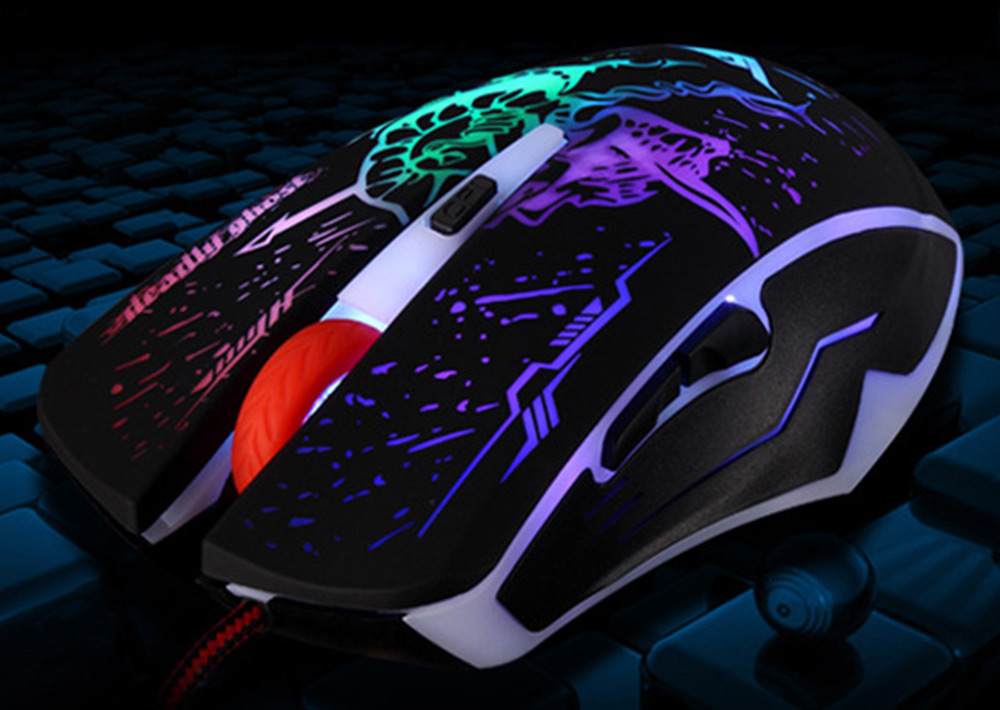 RAJFOO DN16066 Wired USB Computer Gaming Mouse with Backlight