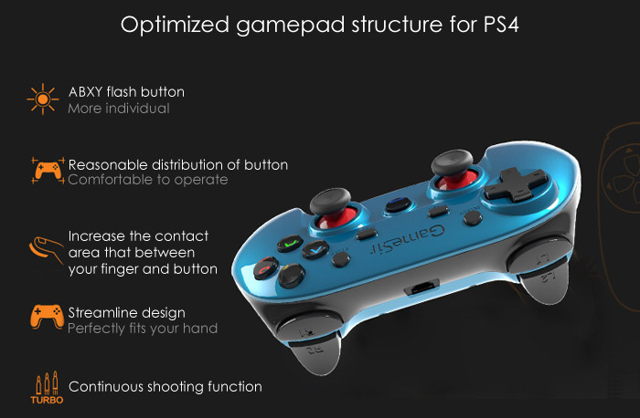 Gamesir G3V Series Wireless 2.4GHz Bluetooth 4.0 Controller Gamepad Control for Android / iOS / PC / PlayStation3 Gaming ( Deluxe Edition )