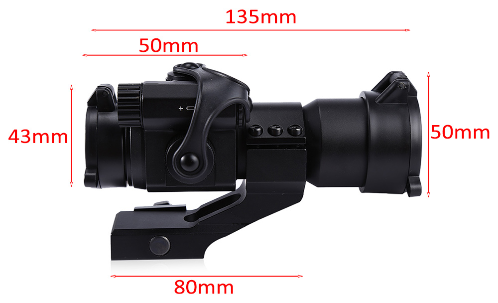 32mm M2 Sighting Telescope Laser Sight with Red Dot Scope for Picatinny Rail