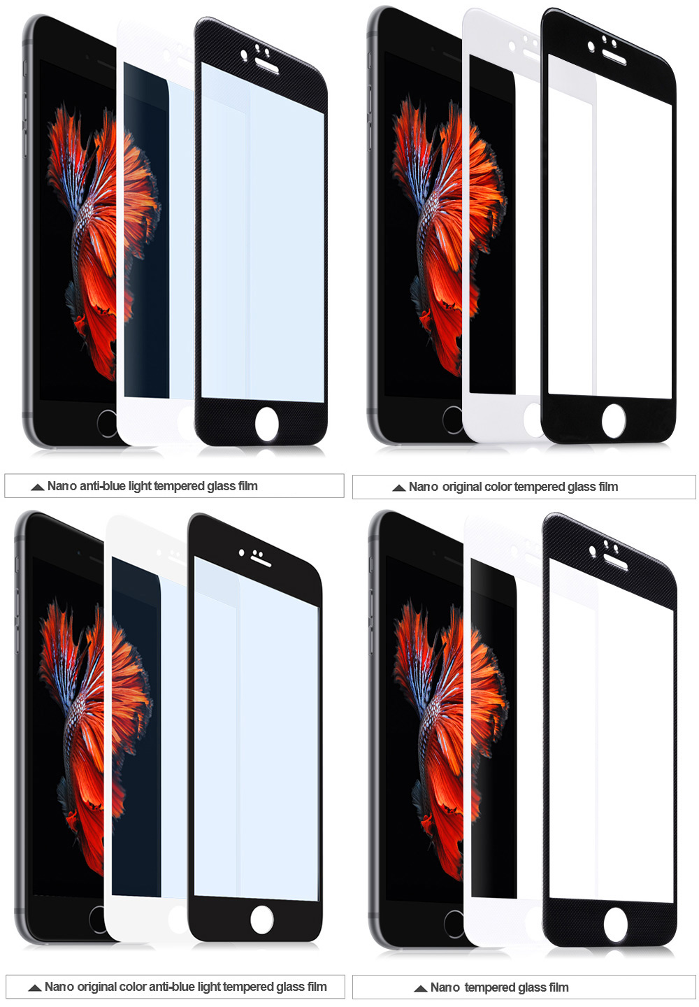 HOCO Full Screen Nano Tempered Glass for iPhone 6 Plus / 6S Plus