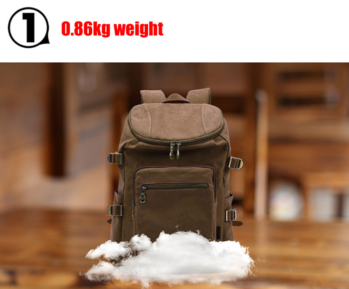 KAUKKO 19L Male Backpack with Breathable Widened Shoulder Strap