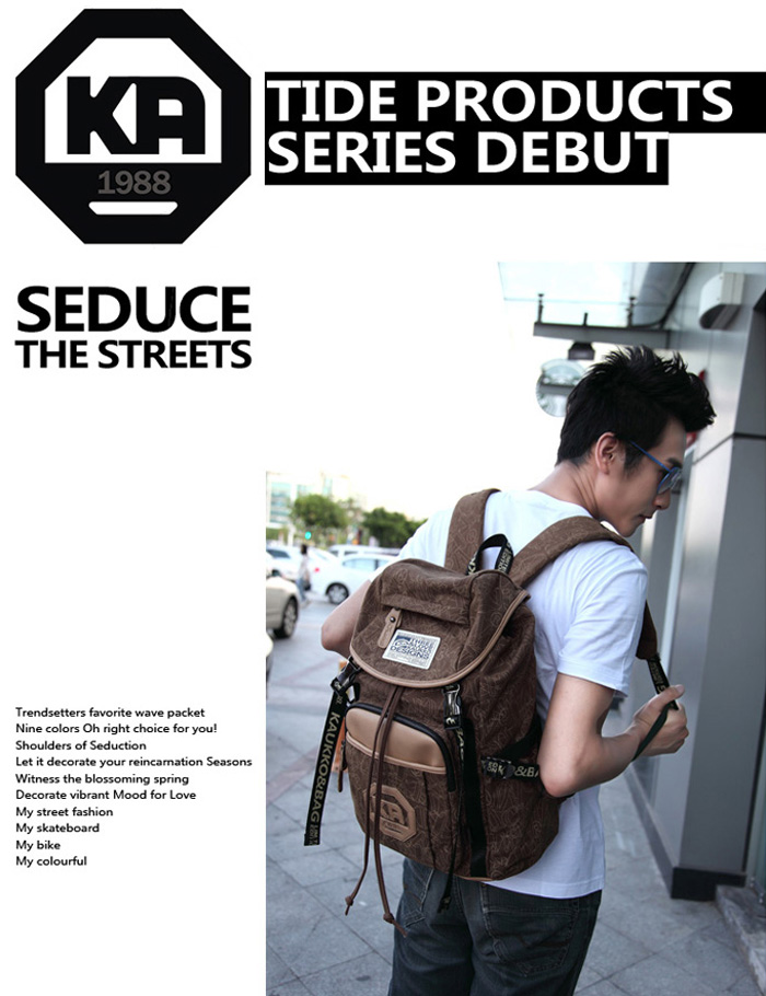 KAUKKO 19L Student Traveling Backpack with Laptop Layer