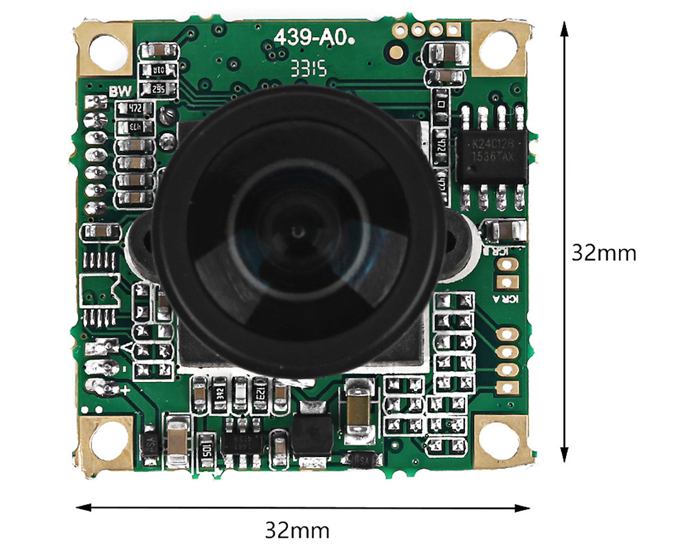 Fish-eye CCTV HD Wide-angle Sensor 360 Degree 5MP Camera Accessory for H250 280 330 - PAL Format