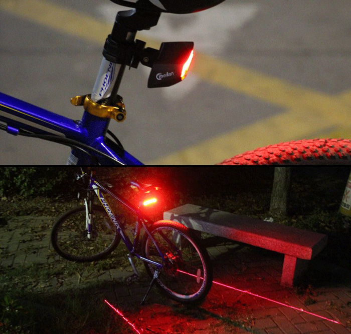 Meilan X5 Streamline Shaped 80LM 2000mAh Bicycle Laser Tail Light with Smart Remote Function