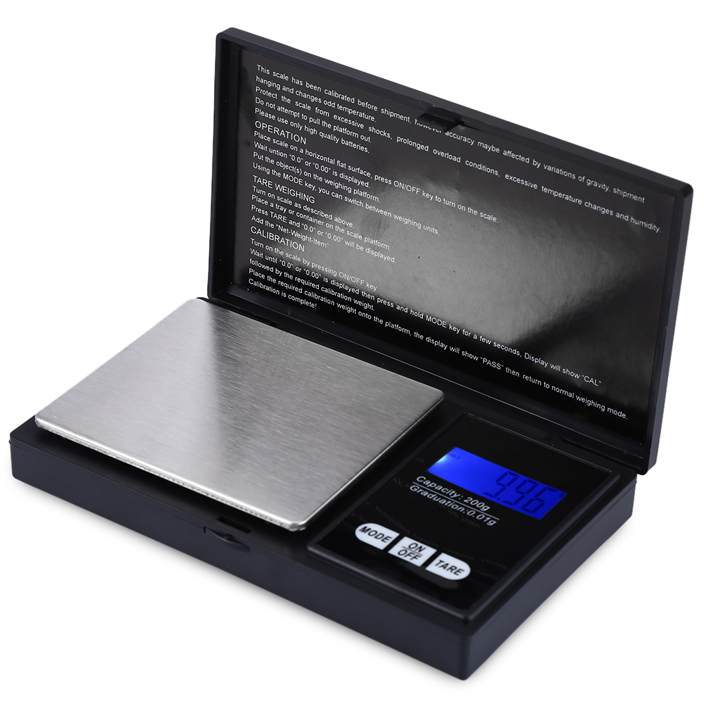 HF-08B Electronic Scale 200g Capacity 0.01 Accuracy Mini Weighing Device with LCD