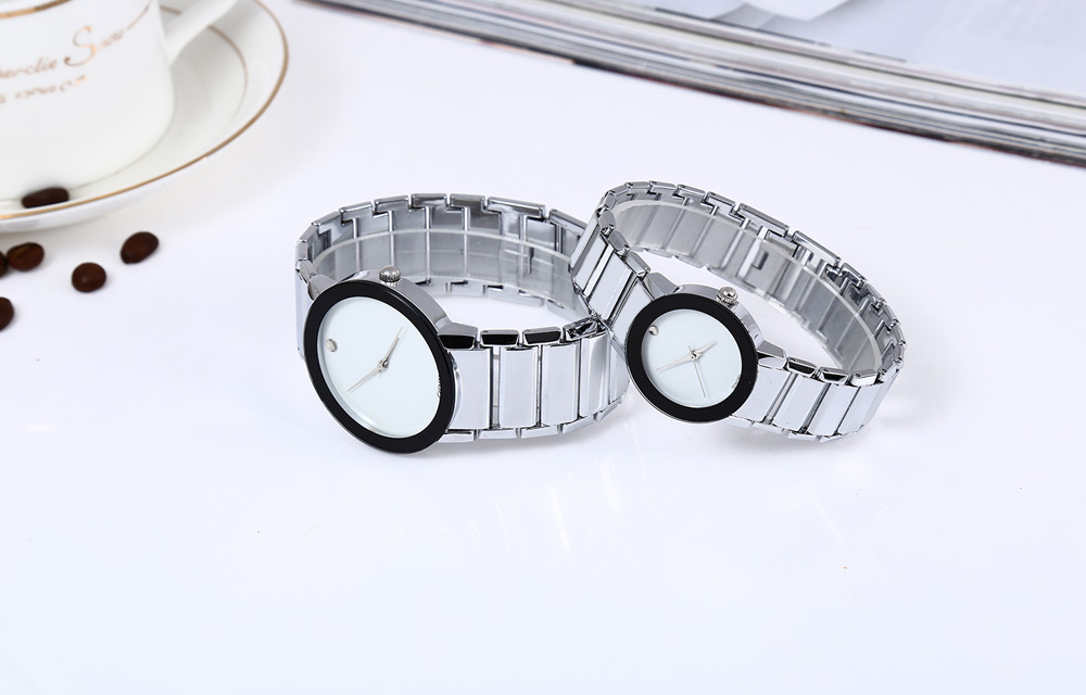Sinobi 9106 Water Resistant Japan Vintage Couple Quartz Watch Military Army Stainless Steel Band