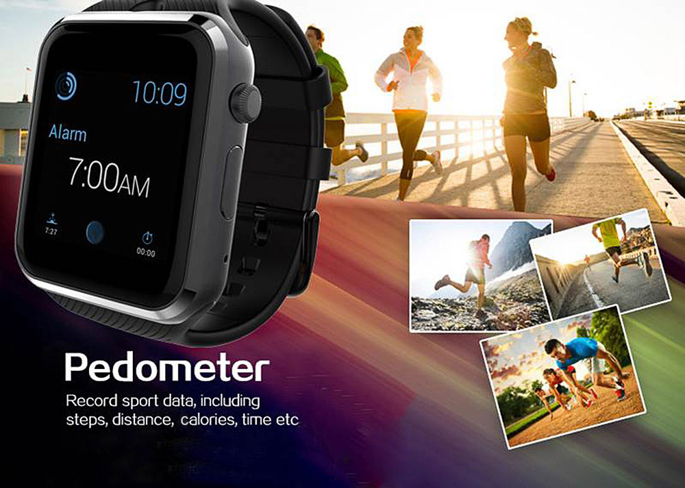 GD19 1.54 inch 2.5D Smartwatch Phone MTK6260 Sleep Monitor Sedentary Reminder Built-in Camera Pedometer