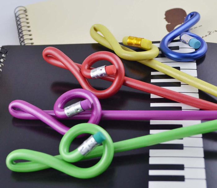 5PCS DEDO MG-7 Music Notes Style Wood Pencil Stationery Gifts