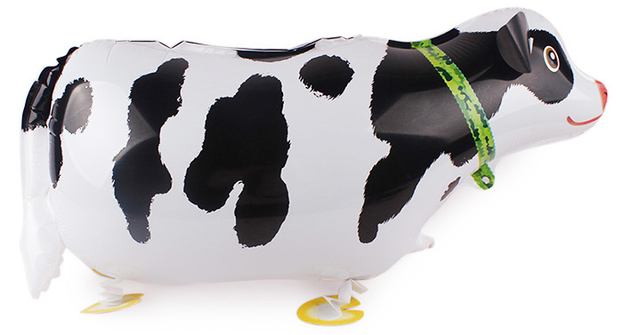 Auto-Seal Milk Cow Foil Balloon Reuse Party / Birthday Decor Inflable Gift for Children